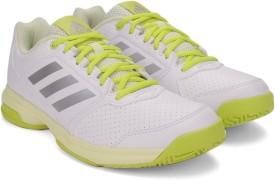 Adidas ADIZERO ATTACK W Tennis Shoes(Silver, White, Yellow)