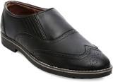 Ten Black Leather Brogues Slip On (Black...