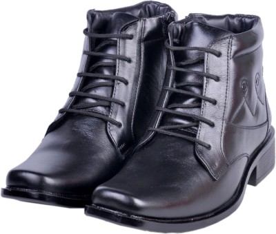 Shoebook Shoebook Black Leather Boot Lace Up Boots