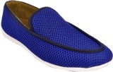 Raja Fashion Blue Canvas Loafers (Blue)