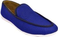 Raja Fashion Blue Canvas Loafers(Blue)
