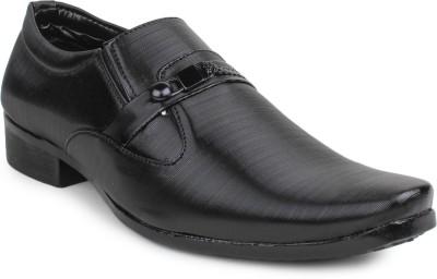 11e Frml-4018-Black Slip On Shoes
