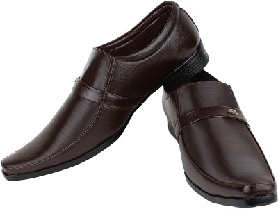 Earton Brown-358 Slip On Shoes