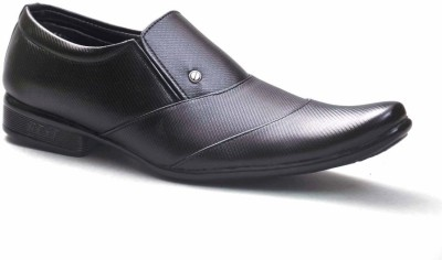 Big Wing Stylish Black Formal Slip On Shoes