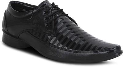 Get Glamr Black Men's Lace Up Shoes