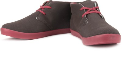 Lotto Seventy Mid Ankle Sneakers(Brown, Red)