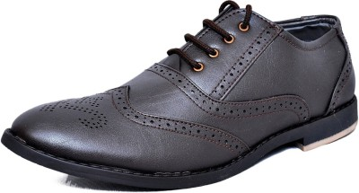 West Code Men's Synthetic Leather Casual Shoes 2001-Brown-7 Casuals