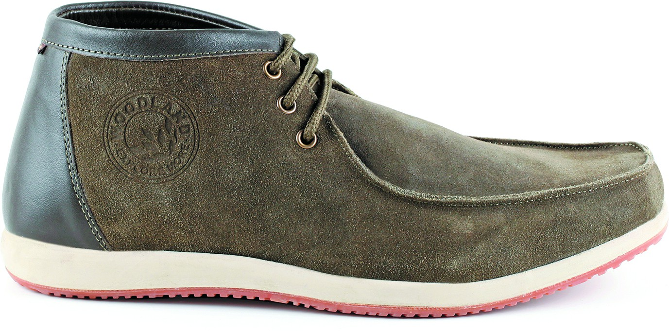 Woodland Leather Outdoor shoes(Green)