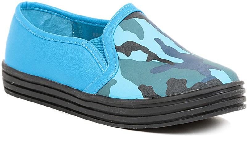 Footash Canvas Shoes(Blue, Black)