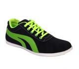 Marcbeau Cnvs Mid Ankle Sneakers (Black,...