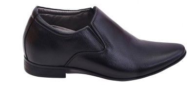 Elevato Lazzaro Black Height Increasing Slip-On - 3 INCHES Slip On Shoes