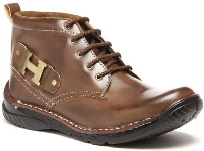 Zapatoz Two Tone Harley Brown Boots