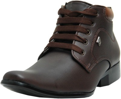 Black Tiger Men's Synthetic Leather Casual Shoes 5006-Brown-8 Casuals