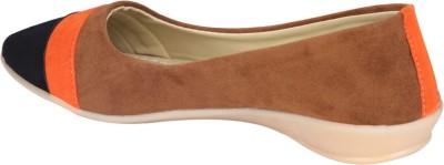 Shibha Footwear Brown Base Ballerina Bellies