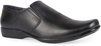 Leather King Max Black Slip On
