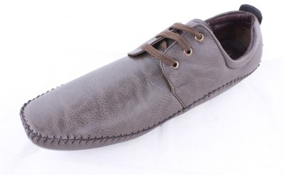 Huba BROWN Synthetic Leather Casual Shoes