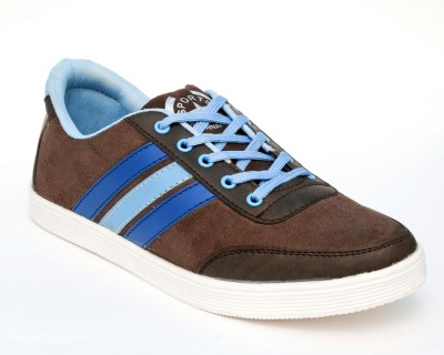 TheWhoop Mens Cool Brown Blue Casual Shoes Sneakers