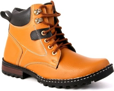 Skylark Synthetic leather Tan Boots