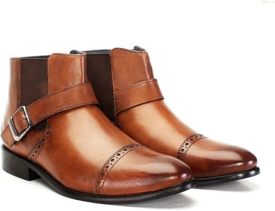 Brune TAN LEATHER BRYCE BOOT Monk Strap(Tan)