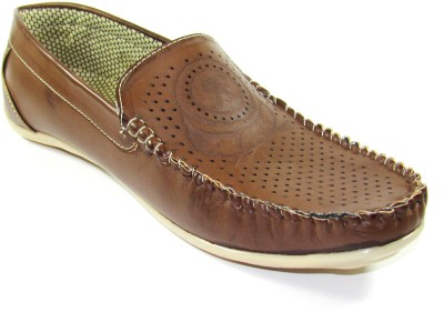 TheWhoop Men's Brown Designer Casual Shoes Loafers