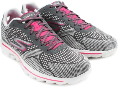 Skechers Go Walk Fuse Walking Shoes(Grey, Pink)