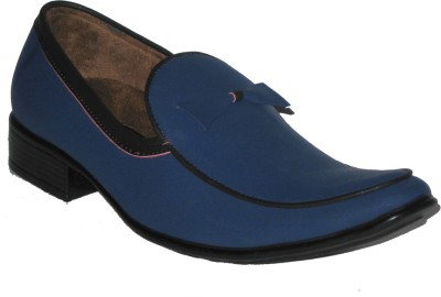 Jajos Blue Fancy Loafer Loafers