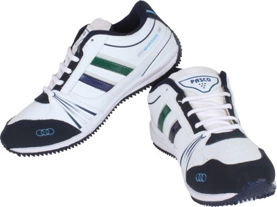 Pasco Martial White Blue Pasco Sports Running Shoes