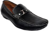 Raja Fashion Synthetic Black Loafers (Bl...