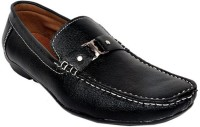 Raja Fashion Synthetic Black Loafers(Black)