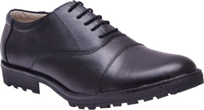 Bxxy Black Leather Oxford Lace Up Shoes
