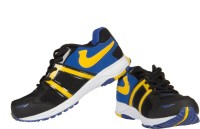 Ros 1077 Black RBlue Yellow Walking Shoes