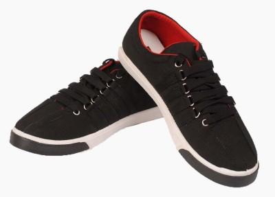 Fluid Black white Canvas Shoes