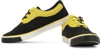 Sparx Canvas Shoes, Sneakers(Black, Yellow)