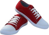 WhiteCherry Canvas Shoes (Red)