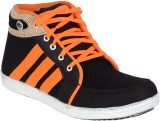 Marvelous Canvas Shoes (Black, Orange)