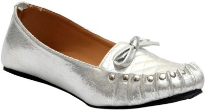 Stylish Step Silver Loafers(Silver)