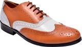 Hirel's Mens Dual Color Leather Brogues ...