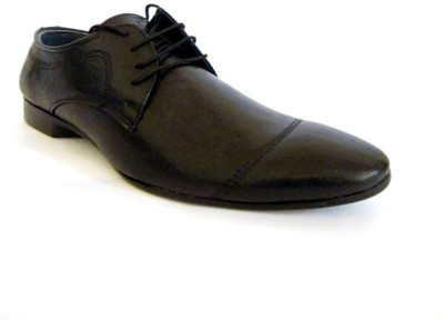 A Cheval Formal Classy Black Lace Up Shoes