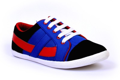 Sam Stefy Blue Red A33 Canvas Shoes