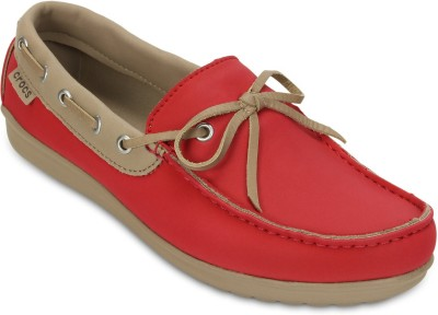 Crocs Boat Shoes(Red)