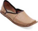 Paduki Ethnic Footwear Mojaris (Beige)
