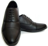 ASM Black Leather Oxford Shoes Lace Up (...