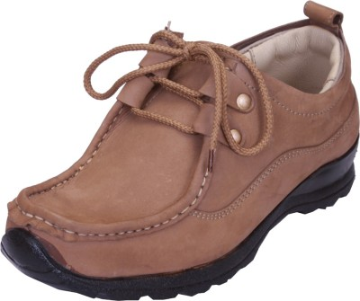 Shoebook Brown Leather Casual Shoes(Brown)