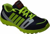 Feetway Running Shoes (Black, Green)