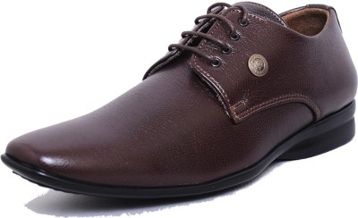 West Code Men's Synthetic Leather Formal Shoes D-74-Brown-9 Casuals
