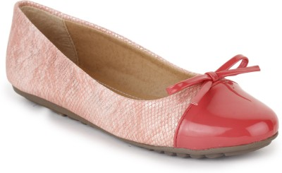 Vilax Shining Snake Patent Ballerinas With Bow Bellies