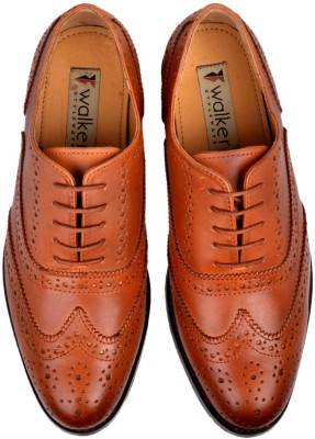 Walker Styleways Classic Oxford Brogue Lace Up Shoes