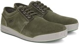 Woodland Leather Sneakers (Olive)