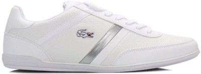 Lacoste Mens White Giron SCY Leather Trainers Casual Shoes