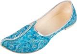 Pulpypapaya Festive Cyan Mojaris (Blue)